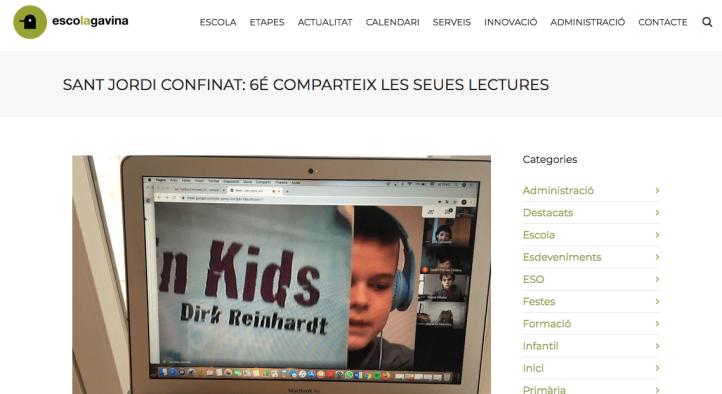 A la web d'escola Gavina